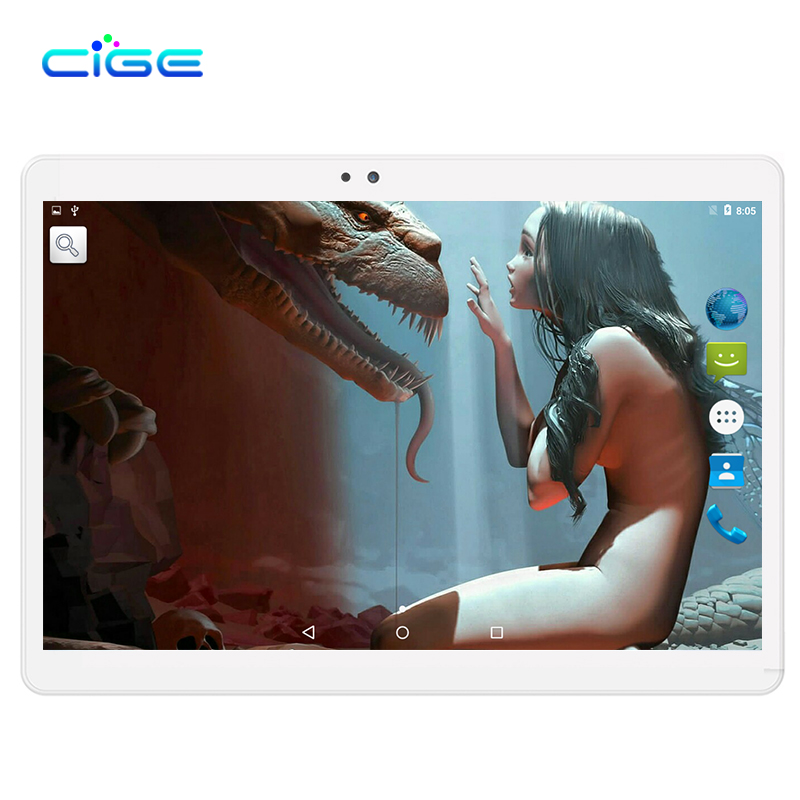"CiGe Newest 3G Android Tablet PC Tab Pad 10 Inch IPS Deca Core 4GB RAM 16GB ROM Dual SIM Card Phone Call 10.1"" Phablet WiFi GPS"