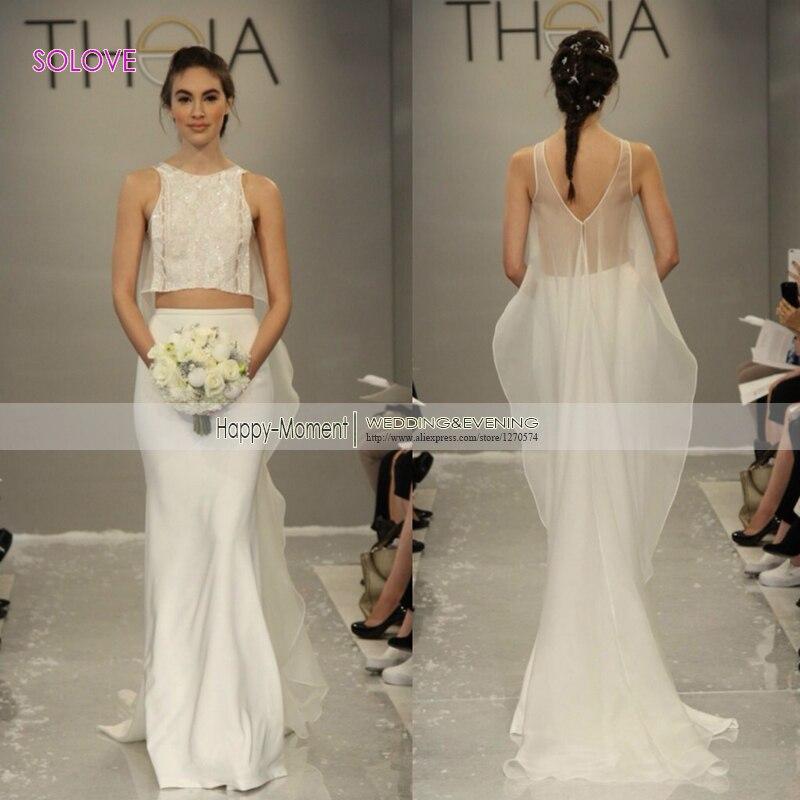 Popular 2 piece wedding dresses buy cheap 2 piece wedding for Cheap 2 piece wedding dresses