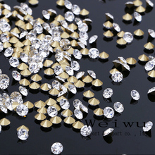 SS2 1.2~1.3mm 1440PCS For Jewelry Making Clear Crystal Strass Point Back Rhinestones