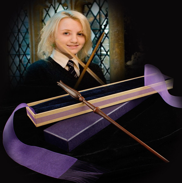 Free Shipping New style Harry potterr   Luna Lovegood Magical Wand with a Gift Box Cosplay Toy children's gifts