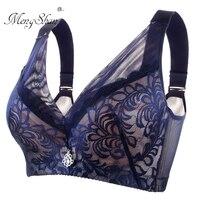 0cde78640 MengShan Gather Sexy Lace Underwear Women Two Large Steel Ring Underwear  Adjustment Type Big Size Bra