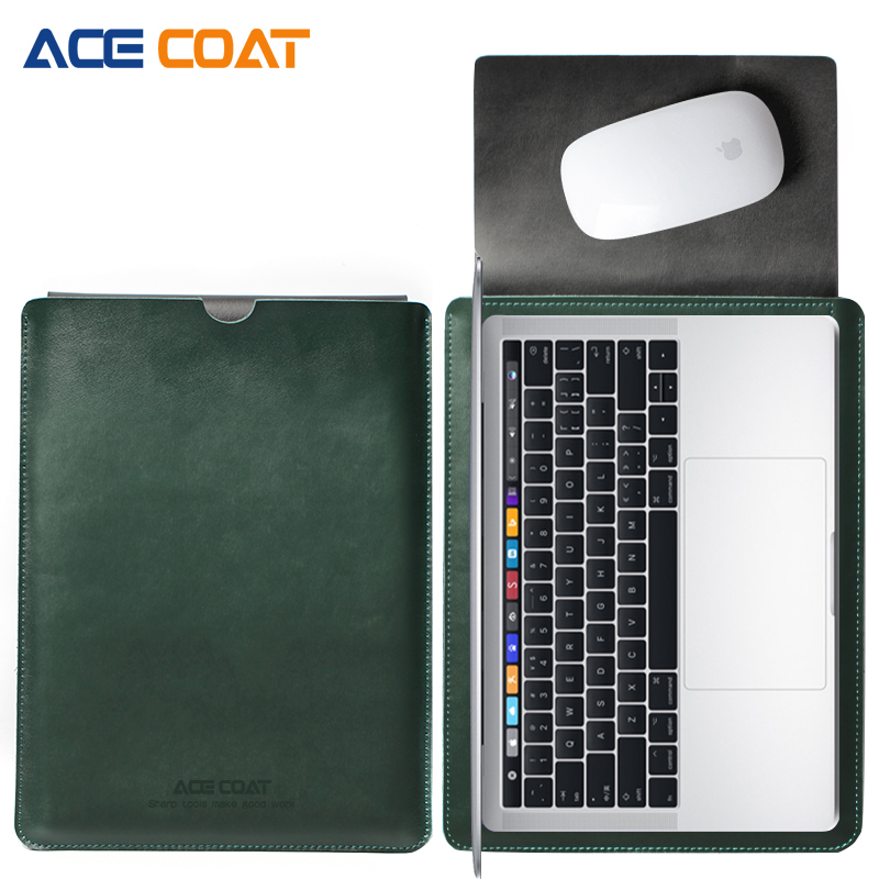 ACECOAT Split Leather Sleeve Protector bags For font b Apple b font font b Macbook b