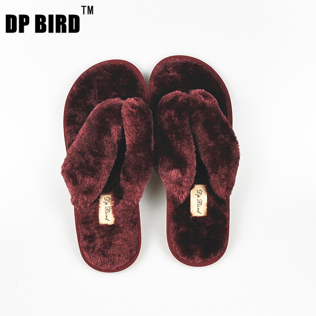 DP BIRD 15 Colors Fashion Spring Autumn Winter Home Cotton Plush Slippers Women Indoor Floor Flip Flops Flat Shoes Girls Gift