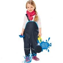 Детские Водонепроницаемые комбинезоны; брюки с подкладкой; уличные штаны; Непродуваемые штаны для мальчиков и девочек в немецком стиле; для дождливой погоды; 1-7 лет; европейский размер