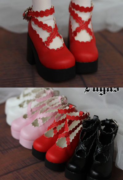 Lace Strap Ankle High Heel BJD Doll Boots 4colors for 1/3 SD, 1/4 MSD BJD Doll Luts AS,DOD,Doll Shoes  SW23