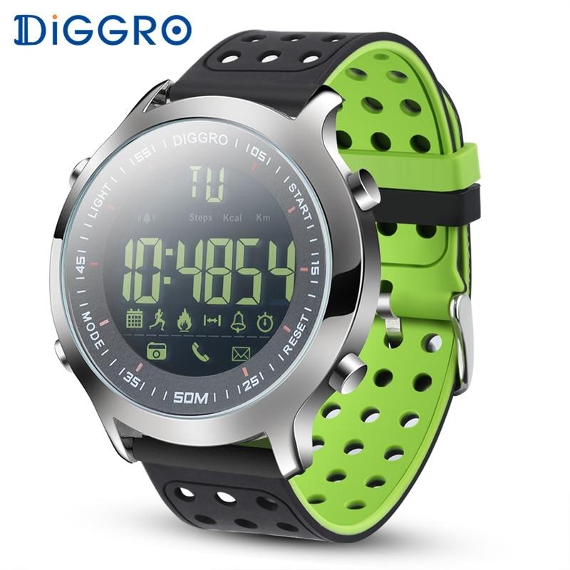 emballage élégant et robuste femme choisissez le dégagement € 16.07 6% de réduction Diggro EX18 montre intelligente hommes Sport montre  5ATM étanche Bluetooth SmartWatch podomètre rappel d'appel chronomètre ...