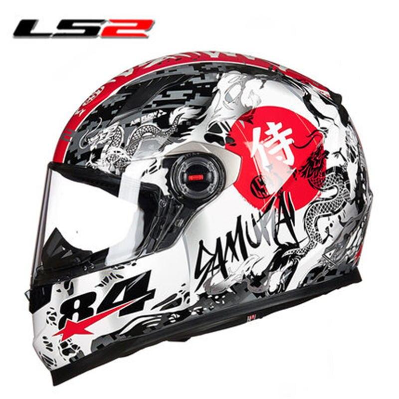New Color LS2 FF358 samurai motorcycle helmet man women full face racing moto helmet army style