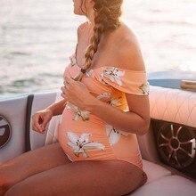 Bikini swimwear Maternity Tankinis Women Flower Print Bikinis Swimsuit Beachwear Pregnant Swimsuit Beachwear MM619