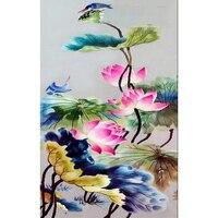 Lotus And Birds Cross Stitch Resin DIY Diamond Painting Diamond Mosaic Embroidery Gift Diamond Pattern Pictures