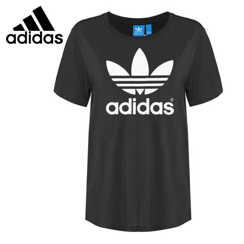 Original New Arrival 2017 Adidas Originals BF TREFOIL TEE Women's T-shirts short sleeve Sportswear inc international concepts new short sleeve woven front tee xl $59 5 dbfl