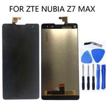 """5.5 """"için zte nubia Z7 Max NX505J LCD monitör ekranı için Ekran + Dokunmatik Digitizer zte Z7 Max Ekran Pantalla Ücretsiz nakliye"""