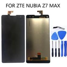 "5.5 ""per zte nubia Z7 Max NX505J Monitor LCD Screen Display + Touch Digitizer per zte Z7 Max Display Pantalla trasporto Libero"