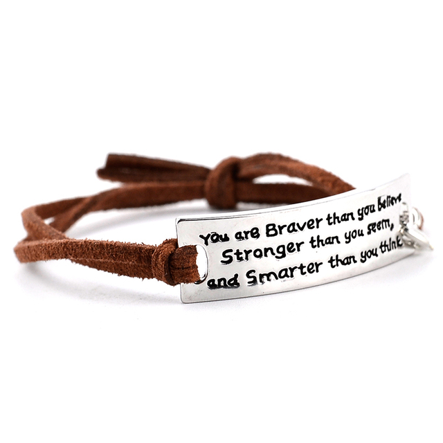 """You are Braver Than you Believe Stronger than you seem"" Inspirational Motivatio"