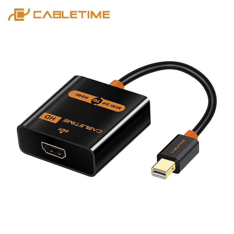 Cabletime Mini ديسبلايبورت إلى محول HDMI متر/F Thunderbolt DP كابل وصلة بينية مُتعددة الوسائط وعالية الوضوح ل كمبيوتر صغير هوائي ماك بوك برو iMac 1080p العارض C062