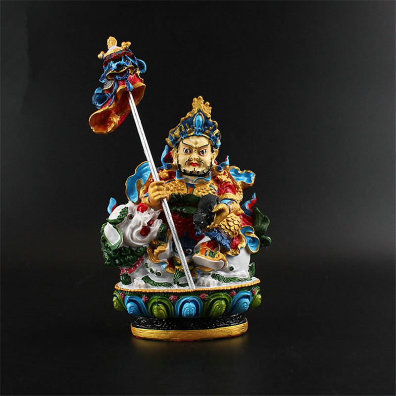 12.5CM -High Grade Vaishravana Buddha Home And Company Decorative Resin Painted Small Buddha Statue Zambala Buddha Statue