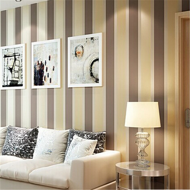 beibehang Modern fashion Luxury Vertical stripes wallpapers Glitter Non-woven wallpaper Roll Home Decoration silver Coffee Grey beibehang modern fashion luxury vertical stripes wallpapers glitter non woven wallpaper roll home decoration silver coffee grey