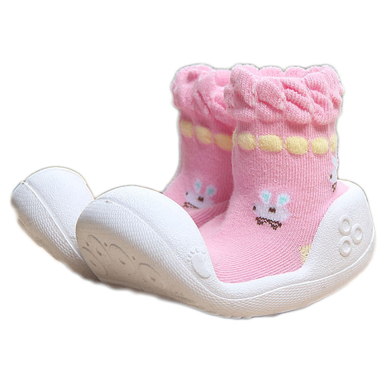 Baby Shoes Cotton Indoor Infant Anti Slip Bottom Breathable Absorbent Baby Socks with Rubber Soles Newborn Baby Girl Shoes YD531