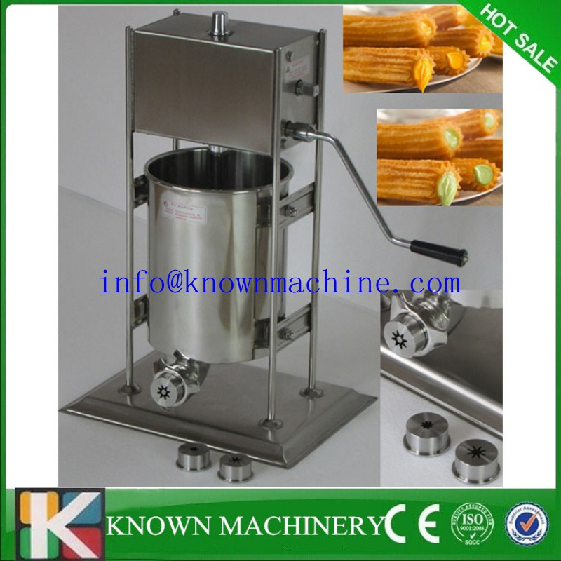 your better choice stainless steel 5L manual churros machine,churro maker, churros machine(also produce 2L 3L 7L 8L 10L 12L) 12l automatic churros machine maker spanish snacks latin fruit machine