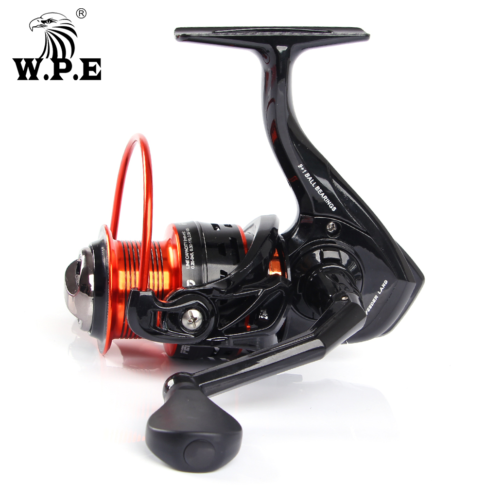 W.P.E FEEDER LAND Series 2000 3000 4000 5000 Spinning Fishing Reel Freshwater Carp fishng wheel 9+1 Ball Bearings fishing tackle