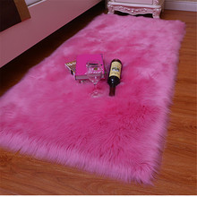 Hot 1pc Artificial Wool Carpet Shaggy Fluffy Rugs for Living Room Bedroom FQ-ing