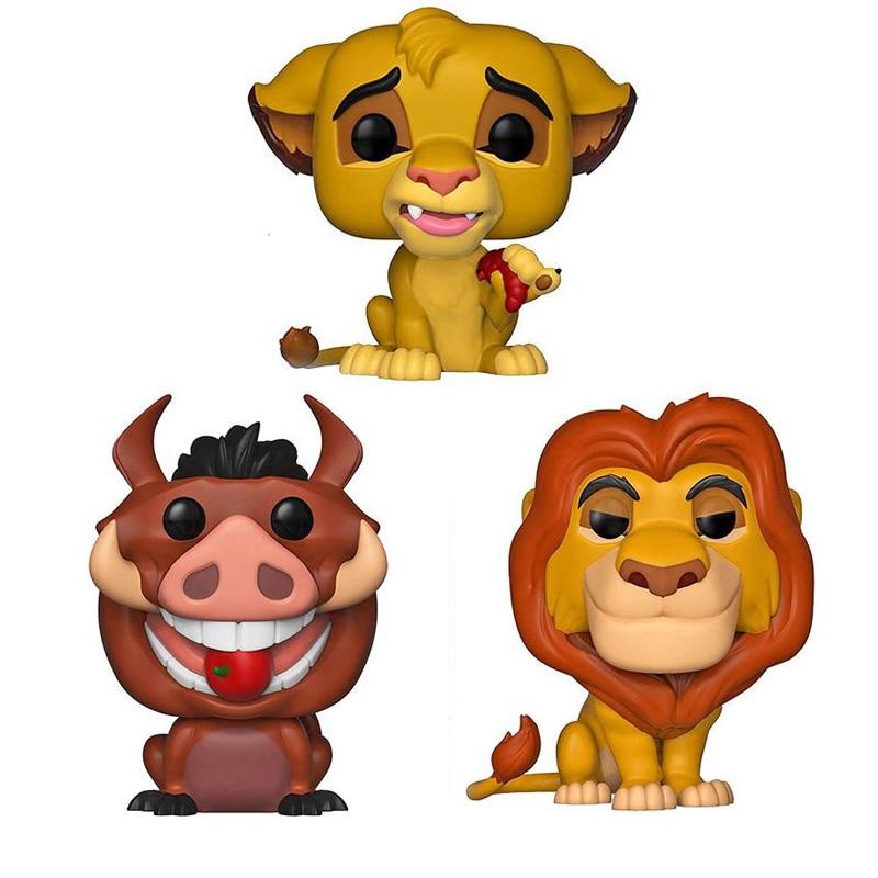 Funko Pop The Lion King Little Simba MUFUSA PUMBAA Figure Collection Vinyl Doll Model Toys