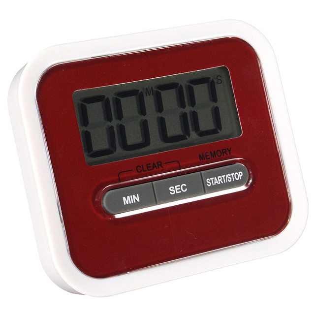 New Hot LCD Timer Magnetic Kitchen Timer Timer Stopwatch Red