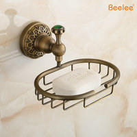 BeeleeBA8309A Free Shipping Wholesale And Retail Brass High End Wall Mounted Antique Brass Home Bathroom Soap