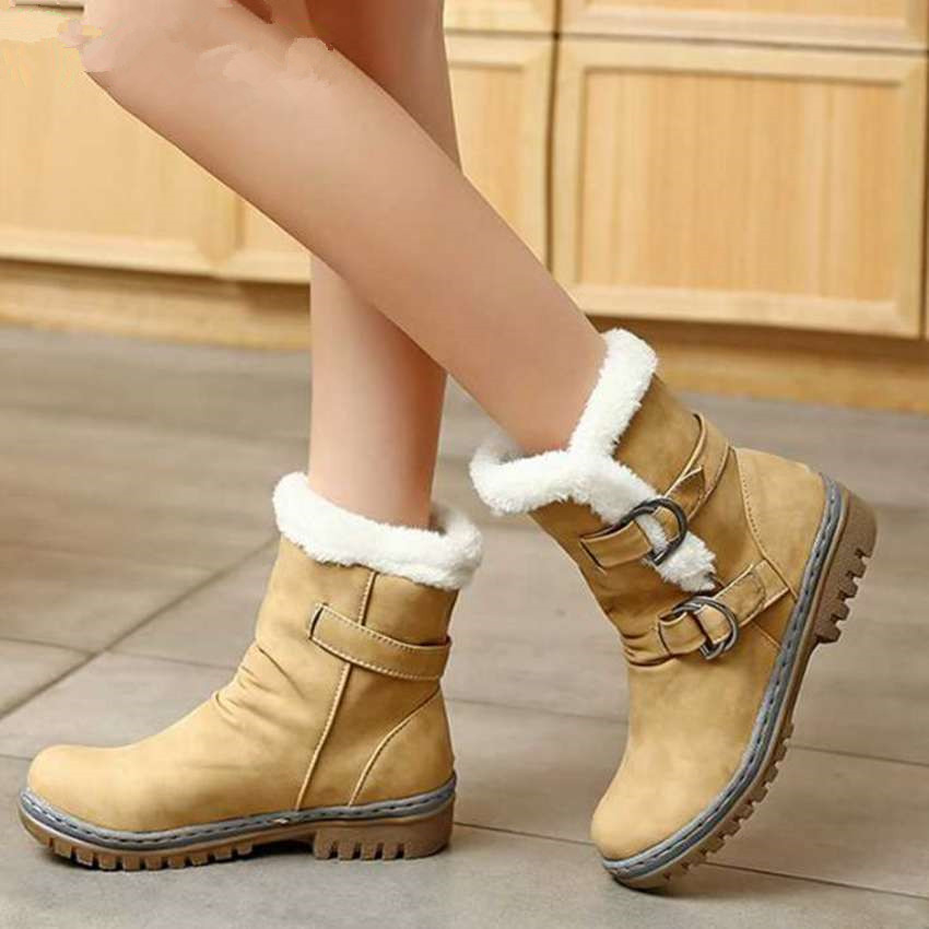 Free shipping 2017 New Classics font b Women b font Boots brown yellow Retro Style Female