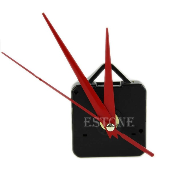 Free Shipping Quality Quartz Clock Movement Mechanism Parts DIY Tool with Red Hands Silence