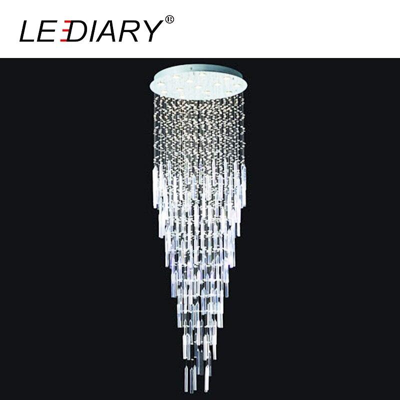 LEDIARY Modern Style LED Crystal Ceiling Pendant Lamp GU10 110-220V Surface Mounted Chandelier Lighting For Foyer Living Room