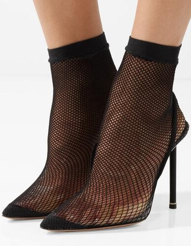 New 2018 Brand Women Sexy Black Pointed Toe Stiletto Heel Slip On Elastic Fishnet Socks Short/Over The Knee Boots Plus Size 42 цена