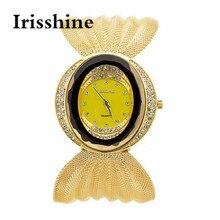 OKTIME Irisshine Z720 Mulheres relógios senhora menina presente Senhora Bracelete de Diamantes Relógio marca de Luxo Espelho de Luxo Relógio de Quartzo por atacado