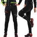 RockBros Мужчины Зимние Тепловые Велоспорт Брюки Mtb Downhill Mounhtain Велосипед Руно Брюки Велосипедов Длинные Брюки Задействуя Одежда Черный