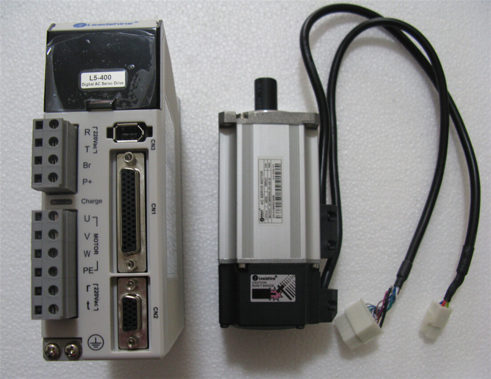 Leadshine NEMA24 400W AC Servo Motor Drive Kits System 220V 3000R/Min 3A 1.27NM 2500line Flange 60mm with 3M Cable New sgmjv 04ade6s sgdv 2r8a01b 400w 0 4kw 200v servo system new original