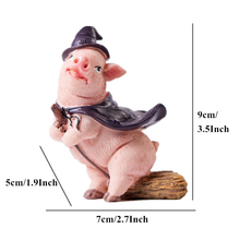 Living Room Accessories 10 Styles Resin Cute Pig Figurines Cartoon Animal Model Ornament Pigs Phone Pen Holder For Home Decor