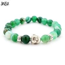 Laughing Buddha Bracelets Unisex Newest Natural Stones Gold/Sliver Bracelet Turquoise Men AndWomen Elastic ChainBracelets