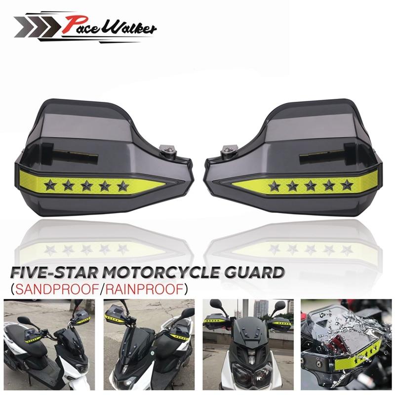 Universel fumée noir moto pentagramme main garde garde garde bouclier coupe-vent moto Motocross