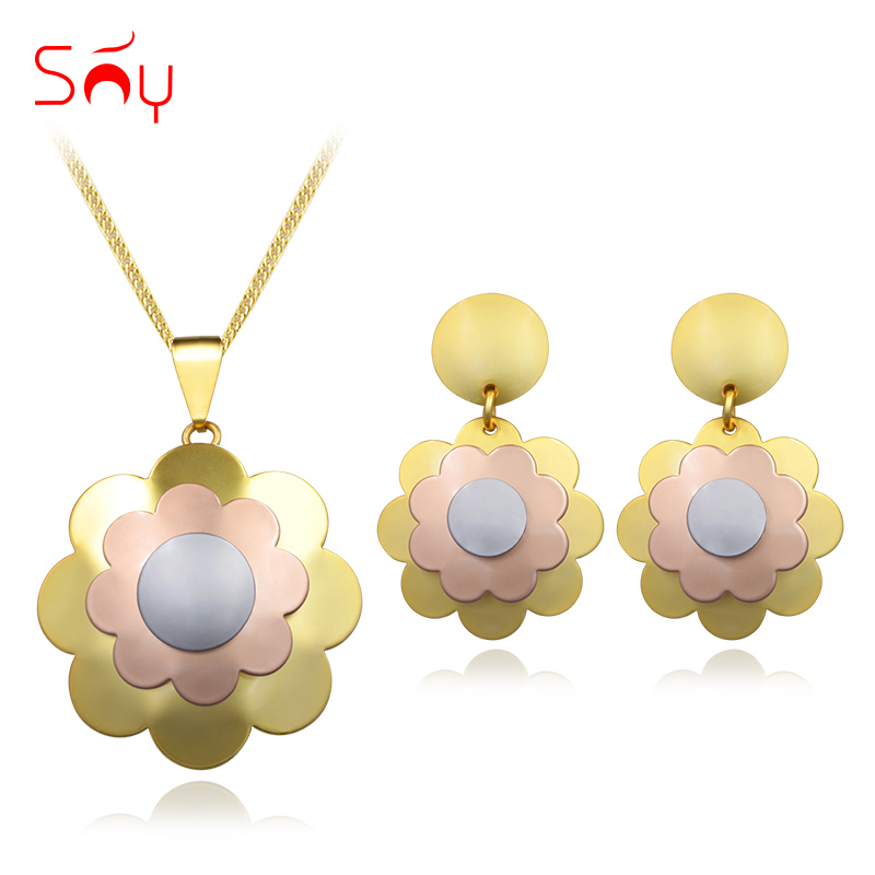 Sunny Jewelry Jewelry Women's Earrings Pendant Necklace Wedding Jewelry Sets Big Flower Party Daily Wear Gift