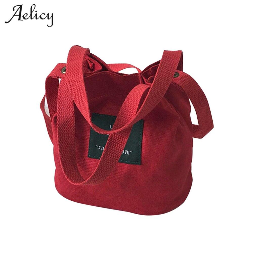 Lady Canvas Handbag Mini Single Shoulder Bag Female Shopping Bags Bucket Pack Designer Swagger Bag 0824