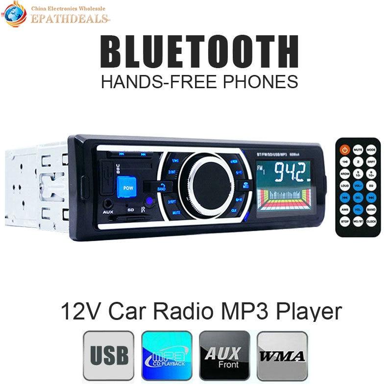 Bluetooth Car Radio Stereo 1 DIN In-Dash Auto FM Aux In Receiver Audio MP3 Player Support SD USB + Remote Control