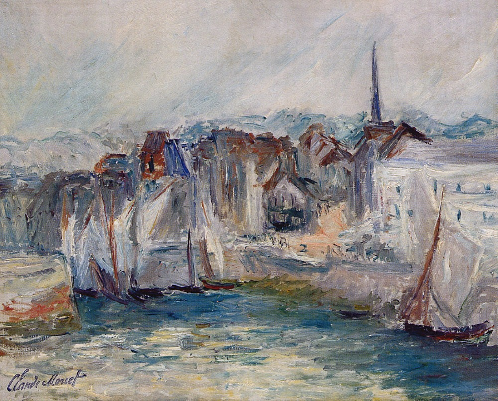 100% handmade oil painting reproduction on linen canvas, landscape oil painting,boats-in-the-port-of-honfleur-1 by Claude Monet100% handmade oil painting reproduction on linen canvas, landscape oil painting,boats-in-the-port-of-honfleur-1 by Claude Monet