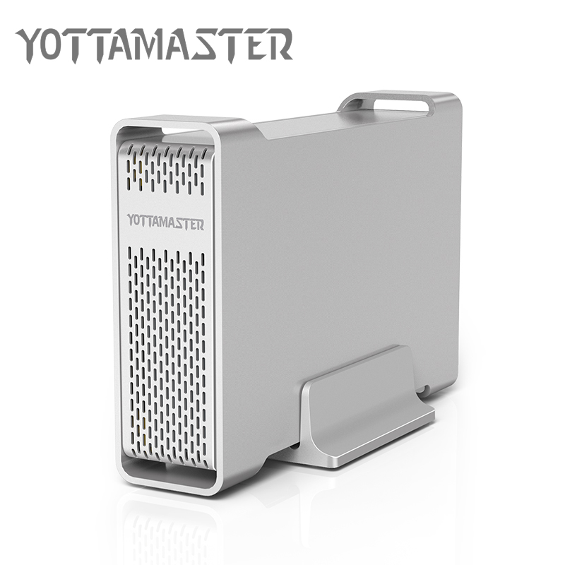 Yottamaster D35 High-end HDD Enclosure USB 3.0 To SATA Single Bay External HDD Case Docking Station For 3.5 HDD Support UASP 8TB