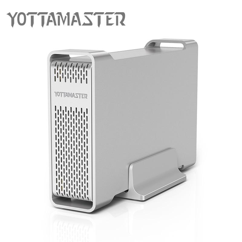 Yottamaster D35 High-end HDD Enclosure USB 3.0 to SATA Single Bay External HDD Case Docking Station for 3.5 HDD Support UASP 8TB sata usb 3 0 hdd3 5 wifi extender hdd bay hdd enclosure sata interface aluminum nas enclosure rj45 wifi router repeater hdd case