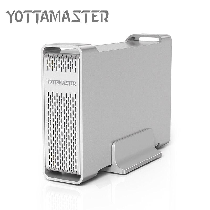 Yottamaster D35 haut de gamme boîtier HDD USB 3.0 à SATA unique baie externe boîtier HDD Station d'accueil pour 3.5 HDD Support UASP 8 to