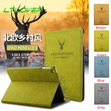 ФОТО tablet case for ipad 9.7 2017 smart auto sleep wake up stand cartoon deer case for new ipad 9.7 inch 2017 a1822 shockproof cover