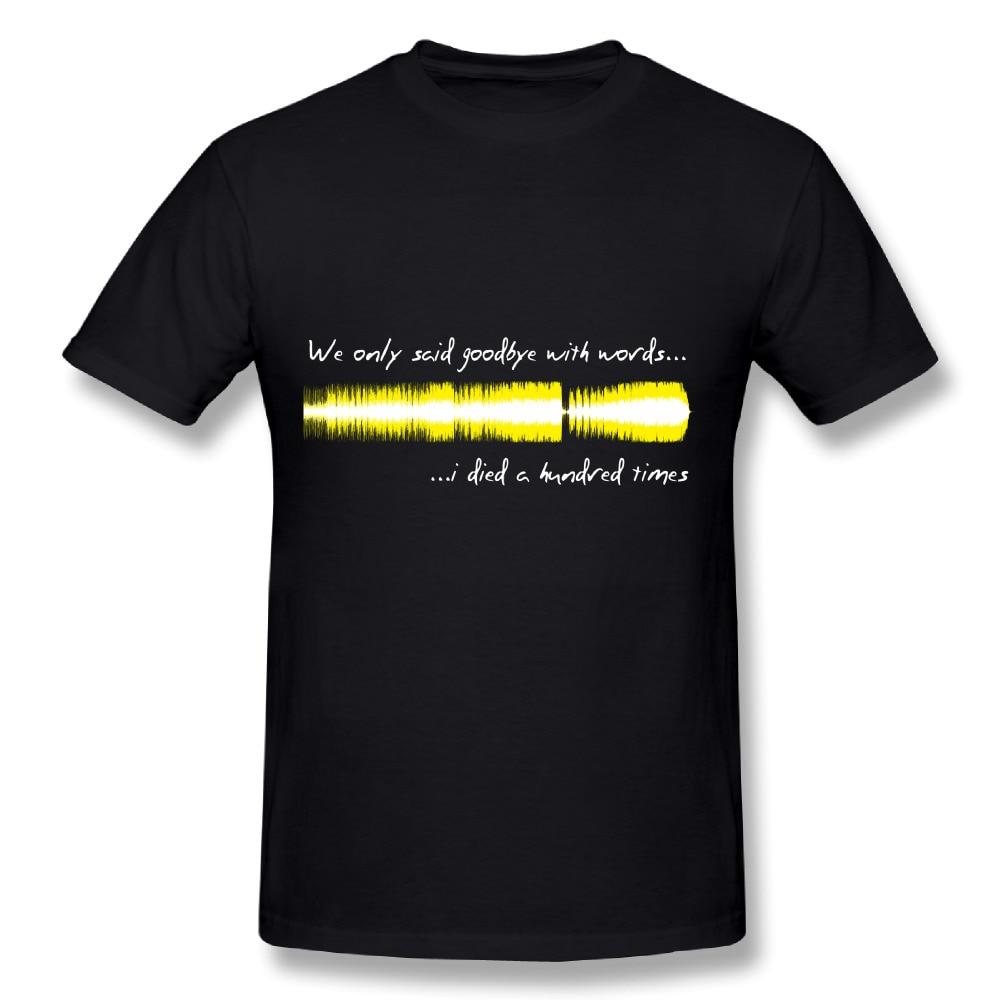 Crew neck Graphic print Quality Custom cotton Sound WAV - Amy Winehouse Shirt Fashion Mens Nice T-Shirt