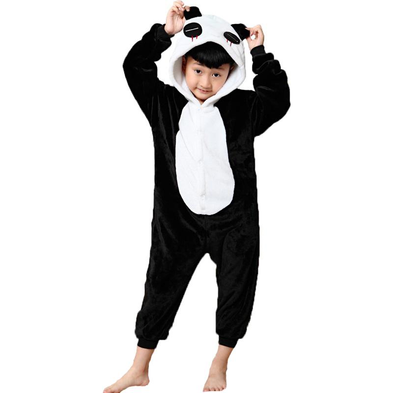 2017-New-warm-kids-pajamas-girls-boys-sleepwear-onesie-children-s-pajamas-unicornio-Cat-Stitch-panda