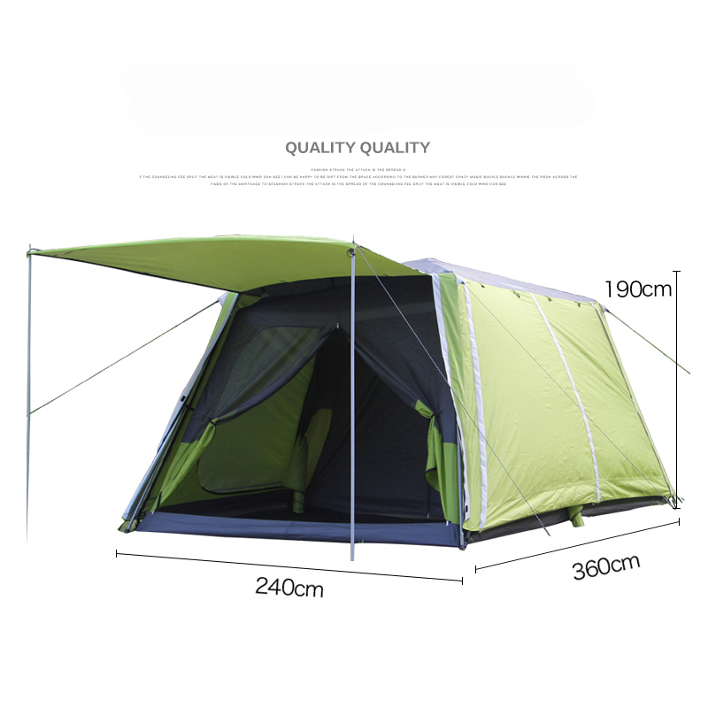 Landwolf Special large outdoor camping 2rooms for 5-8 people big family party travel team tent multiplayer outdoor camping tent image