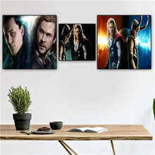 Custom the_avengers_thor_loki Poster Printing Posters Cloth Fabric Wall Art For Living Room Decor#19-01-15-136(China)
