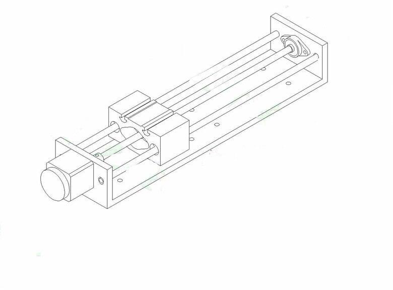 Funssor Z Axis Cnc Linear Slider Slide Rail Nema17 Stepper Motor